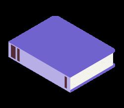 Illustration livre violet